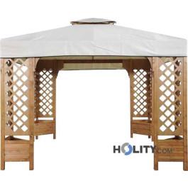 Wooden gazebo h1432