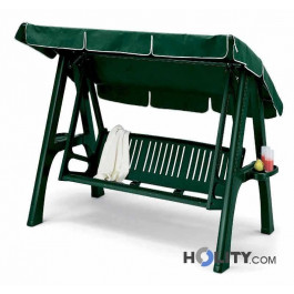 Swing 3 seater removable resin and aluminum with bottle carrier h7467