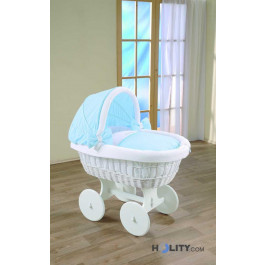 Baby crib with wicker hood h16610