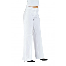 pantalone donna sanitario stretch bianco