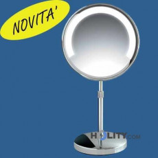 Magnifying makeup mirror with LED supported by h2104