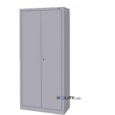 metal cabinet with two doors