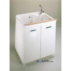 Wash basin with big plastic hot and melamine h15606