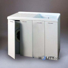 Wash basin with basin for washing machine methacrylate with doors coprilavatrice h15622