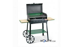 Charcoal barbecue super-equipped h17013