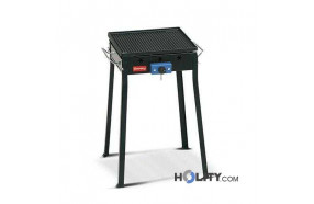Gas Barbecue with cast iron plates h17025