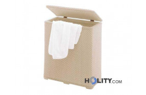Laundry basket of thermoplastic resins h10741 beige