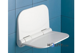 Flip-up seat for shower in  polypropylene without edges