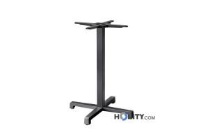 Base-per-tavolo-in-ghisa-e-acciaio-h74214-verniciato-antracite