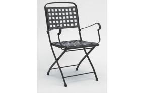 sedia-pieghevole-in-acciaio-con-braccioli-h7486