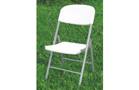 Folding chair in polyethylene and steel h12212